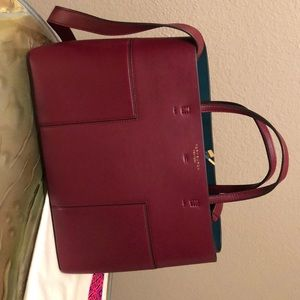Tory Burch Triple Compartment Tote - Burgundy
